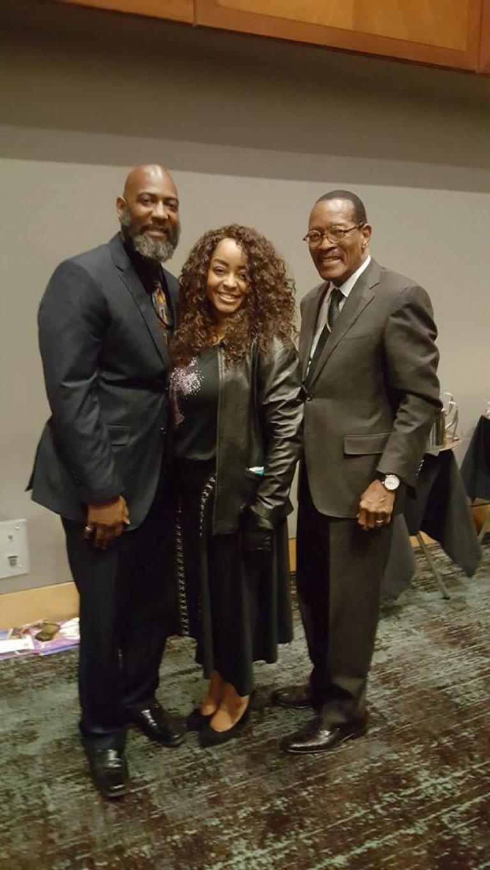Presiding Bishop of COGIC Bishop Charles Black - me and my wife
